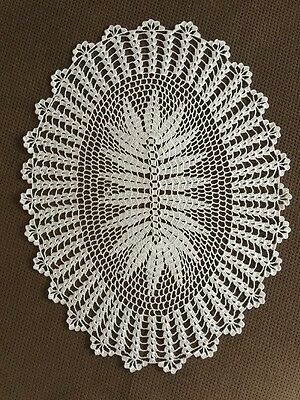 Beautiful Vintage Handmade Doilies Crochet Lace New White