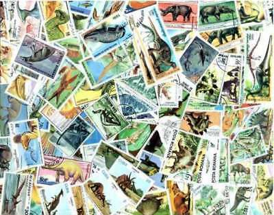 Dinosaurs, Prehistoric Animals Collection of 200 Different Stamps