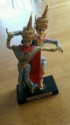 Vintage Dolls - Classic Thai Dancing Couple-Traditional Costume - Ethnic Costume