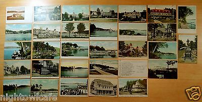 Lot of 31 Antique Postcards ALL WEIRS, NH New Hampshire - Winnipesaukee 14 UDB