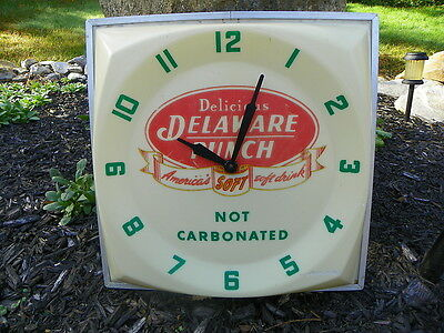 Delaware Punch Clock  Rare Style Working Clock !