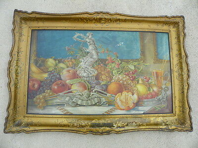 J Hungerford Smith Co  True Fruit Self Framed Tin Sign  Beautiful