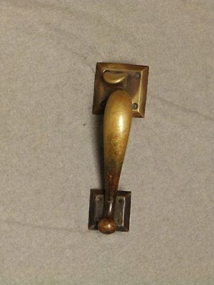 Large Vintage Brass Thumb latch Door Pull Handle Old Entrance Hardware 543-16