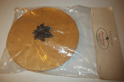 Longaberger Wood Lid With Maple Leaf Handle Tapered Lid for Baskets