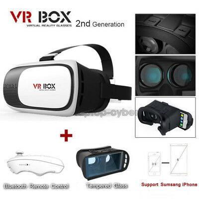 Virtual Reality Glasses 3D VR Goggles Headset For IOS iPhone Samsung With Remote