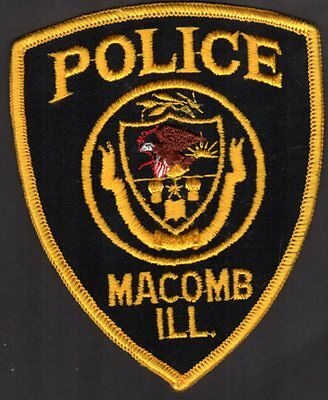 Macomb Illinois Police Patch - retired