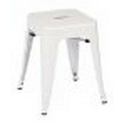 Patterson 18 inch Metal Backless Stool in White Solid Finish - 4 Pack