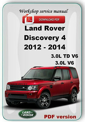 Land Rover Discovery 4 LR4  2012 2013 2014 Factory service repair manual