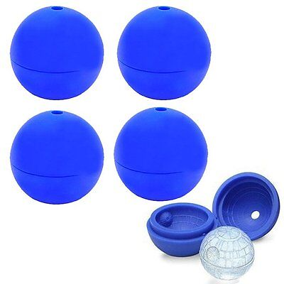 4pcs Creative Silicone Wars Death Star Ball Ice Cube Mold Tray Sphere Mould DIY