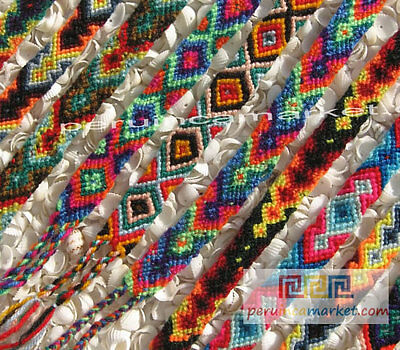 100 Peruvian Cusco Friendship Bracelets Woven Wool Wholesale  Handwoven Peru 1