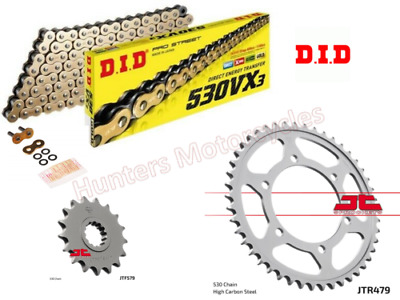 Yamaha YZF- R1, DID Gold X-Ring Chain & JT Sprockets Kit Set 2004 & 2005 Models