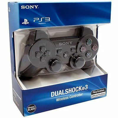 Sony Ps3 Sixaxis Dualshock Wireless Bluetooth Controller Nuovo Nero Originale !!