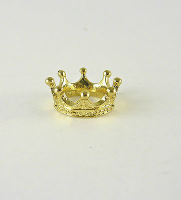 Dollhouse Miniature Golden Metal King's or Queen's Crown, J097