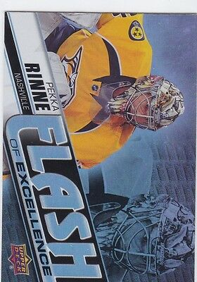 Pekka Rinne 2015-16 Upper Deck Overtime Flash Of Excellence #Foe-12 Nashville !