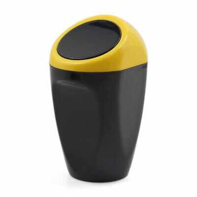 Yellow Black Plastic Trash Rubbish Garbage Bin Case Can for Auto Car Vehicle