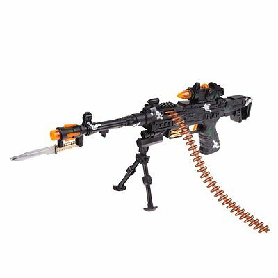 New Toy Kids Military Assault Machine Guns With Sound Flashing Lights Gift Hy