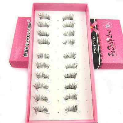 10 pairs Fake Natural Half Mini Corner Winged False eyelashes Cute eye lashes