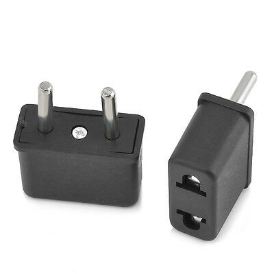 US To EU Europe EURO Plug Converter Adapter Home Travel Power Adaptor Portable I