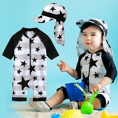 "Vaenait Baby Toddler Girls Boys Swimwear Cap Bathing Suit ""With star baby"" 0-24M"