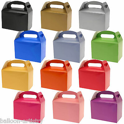 10 Wedding Birthday Colours Children's Card Gift Loot Treat Lunch Party Boxes