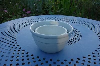 Set Of Two Cream Fowler Ware Vintage Mixing Bowls,retro,size 24 & 36, Can Post