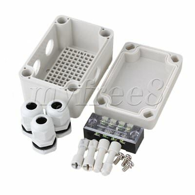Plastic Waterproof Electric Project Junction Box with 4 Position Terminals