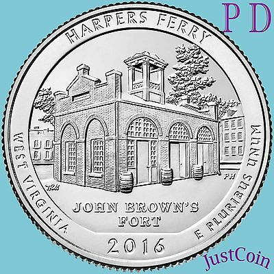 2016 P&d Set Harpers Ferry National Historical Park (Wv) Quarters Uncirculated