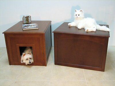 Crown Pet Products Cat Litter Cabinet/Dog Den in Espresso or Mahogany