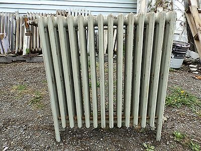 Vintage Hot Water Radiator 14 Sections Cast Iron Old Plumbing Heating 547-16