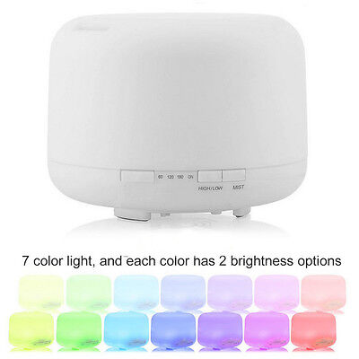 7 LED Color Aromatherapy Essential Oil Diffuser Ultrasonic Air Humidifier 500ml