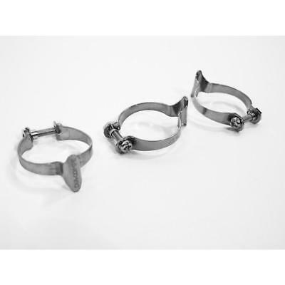 Dia Compe Chrome Cable Clips Pack of 3