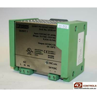 Phoenix Contact QUINT PS-120AC/24DC/1 PSU?IN:120VAC OUT:24VDC 1AMP - Used