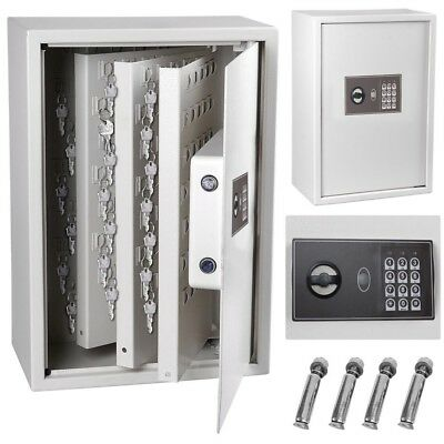 245 Key Storage Cabinet Safe Digital Keyless Lock Box Organizer Rack Security