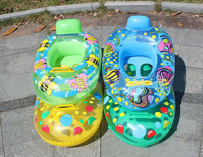Inflatable Swimming Ring Seat Handles Toddler Safety Aid Baby Float Pool Water