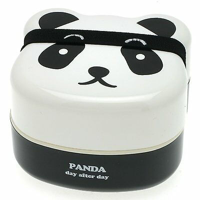 Kotobuki 280-129 2-Tiered Bento Box, Panda Face