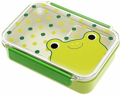 Kotobuki Snap-Lid Bento Box, Frog and Raindrops