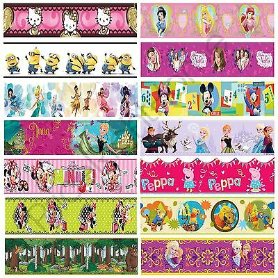 Girls Character Self Adhesive Wallpaper Borders Frozen Peppa Minnie Mouse + More
