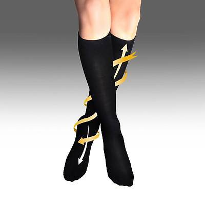 UK Womens Mens Flight Travel Socks Unisex Compression Anti Swelling Dvt Support