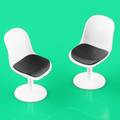 5pcs White 1:25 G Scale Computer Chairs Model Doll House Miniature Furniture