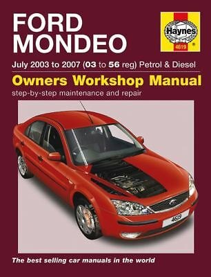 HAYNES SERVICE REPAIR MANUAL FORD MONDEO MK3 July 2003 to 2007 03 to 56 Reg 4619