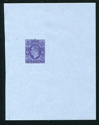 GREAT BRITAIN KING GEORGE VI 6d DIE PROOF AIR LETTER STATIONERY ROYAL BLUE 1946