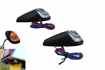 Flush Mount Carbon Look Effect Indicators for Honda CBR600 CBR900 1000 Fireblade