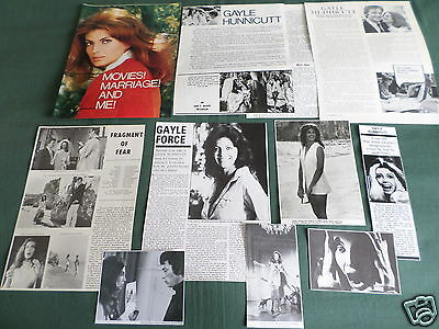 Gayle Hunnicutt - Film Star - Clippings /cuttings Pack