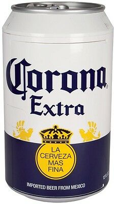 Corona Beer Fridge 12 Cans 12-Volt Thermoelectric Can Cooler Game Room Mancave