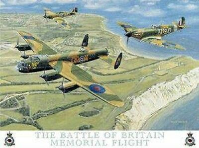 New 15x20cm Battle of Britain Memorial Flight Spitfire small metal wall sign