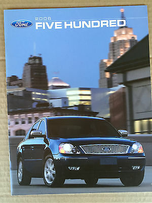 Mint Condition 2006 FORD FIVE HUNDRED I  BROCHURE 06