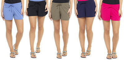 Womens Ladies Cotton Rich Beach Summer Shorts UK Size 8 10 12 14 16 18 20 22