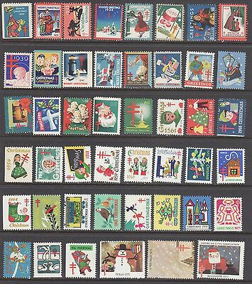 U.s.a.  Christmas Seal Collection  --  46 Diff --- 1929-1977--  Mint