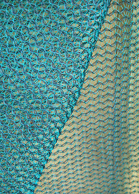 Nutley's 50% shade netting green eyelets assorted lengths offcuts end of rolls