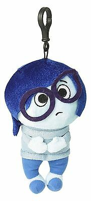 "Disney Pixar Inside Out - Sadness - 8"" Plush Zippered Clip Doll 6451 - Authentic"